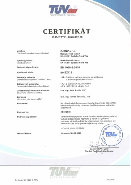 EN 1090-2 SK Stránka 1